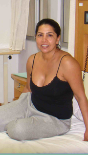 Sita relaxed the day of her cosmetic surgery for whole body liposuction