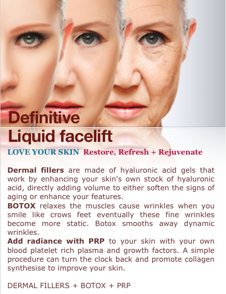 BOTOX Filler PRP anti aging anti wrinkle smooth skin