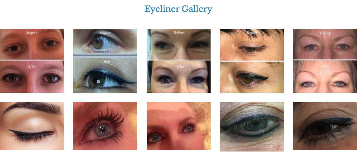 Semi Permanent Make up Eyeliner tattooing
