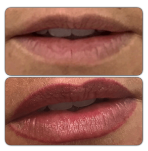 Semi Permanent Lip Make up Mirco pigmentation lip colour