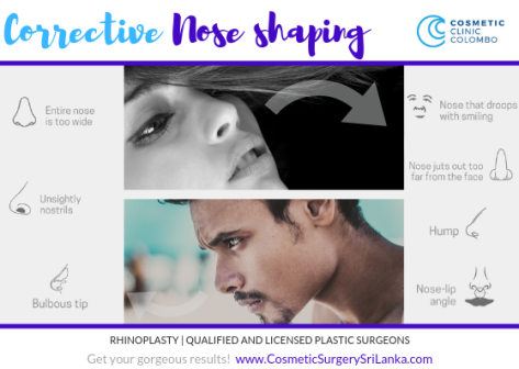 Corrective nose shaping - rhinoplasty Sri LANKA