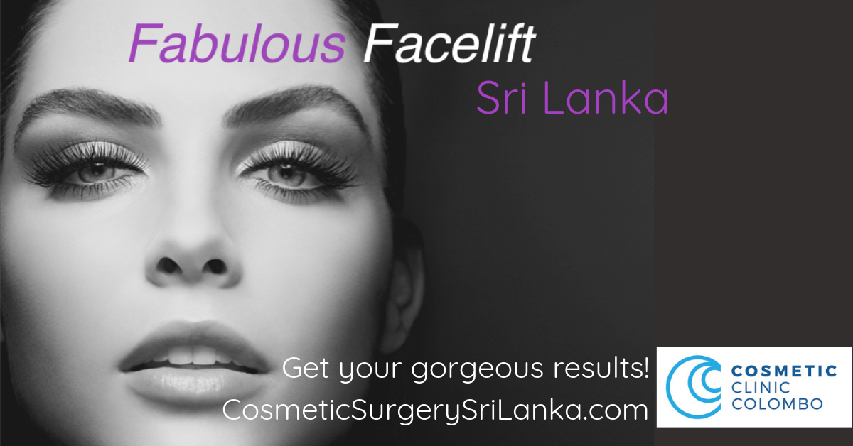 Face lift Eyelids eye bags Blepharoplasty neck lift look younger Dr Dulip Sri Lanka Colombo