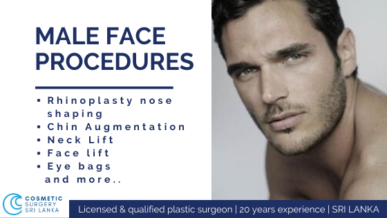 men Face lift Neck Lift Eyelids Nose surgery rhinoplasty cheek augmentation cheek bones Look 10 years younger BOTOX FILLERS Co2 LASER PRP Dr Dulip Dr Thushan SRI LANKA
