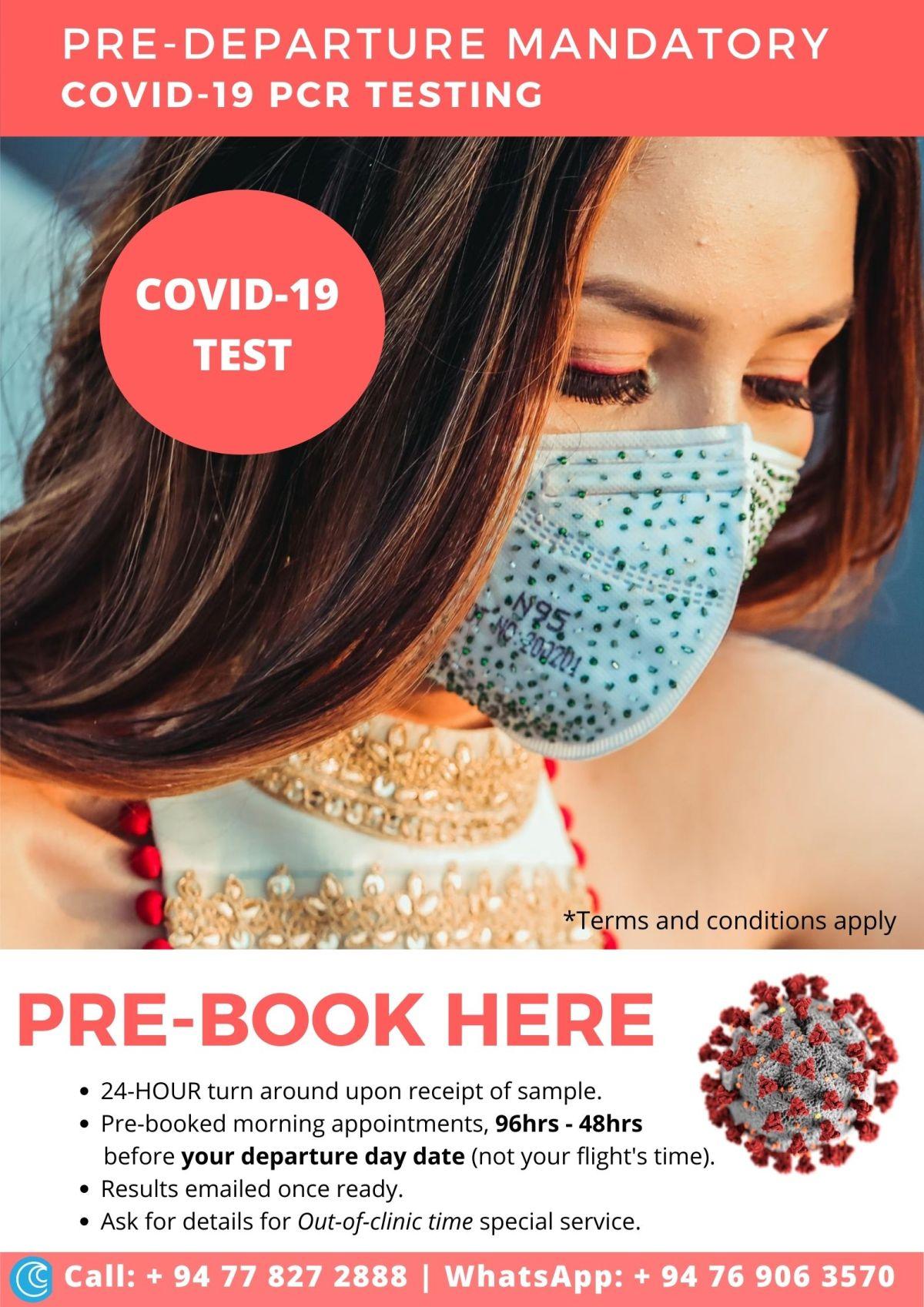 Covid 19 test pre departure