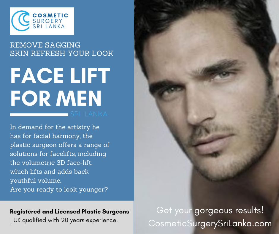 Facelift BRO-TOX for MEN smooth lines instantly SRI LANKA PLASTIC SURGEONS 20 years experience