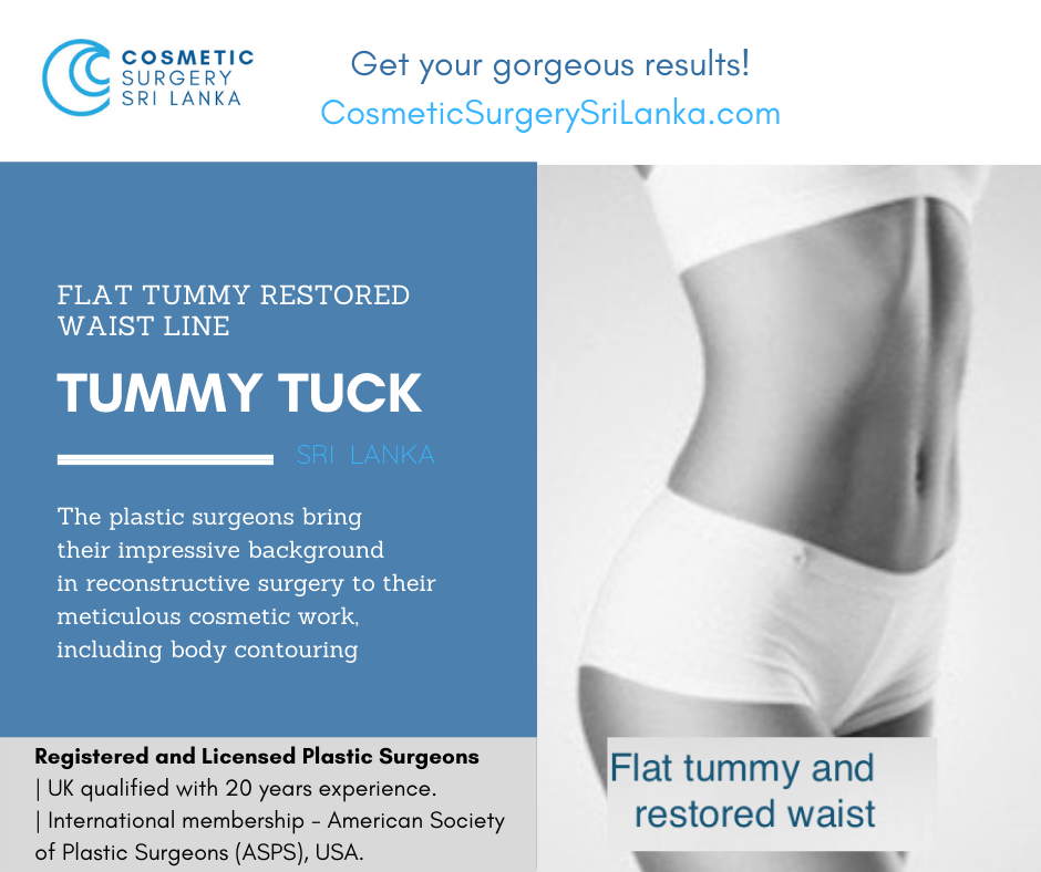 Tummy Tuck Fully licensed plastic surgeons Sri Lanka Colombo