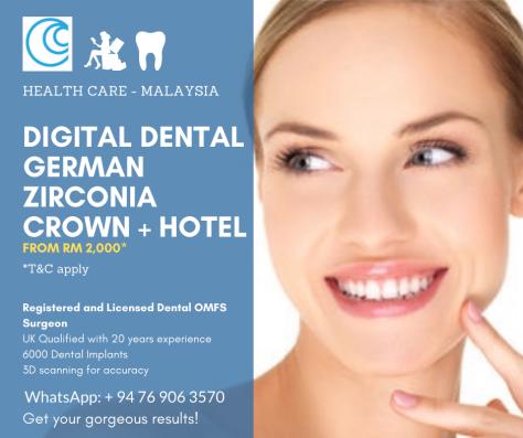 Dental crowns zirconia Malaysia